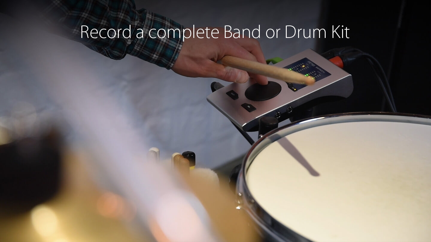 record a complete band or drum kit
