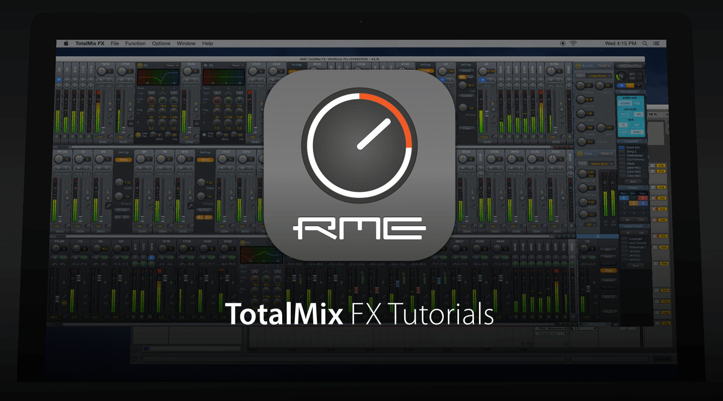 TotalMix FX - Routing and mixing for RME Audio Interfaces